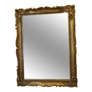 Vintage Art Nouveau Carved Giltwood Mirror For Sale