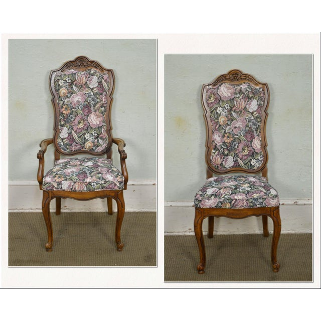 *STORE ITEM #: 17380 Thomasville Vintage French Louis XV Style Set of 6 Dining Chairs AGE / ORIGIN: Approx. 50 years,...