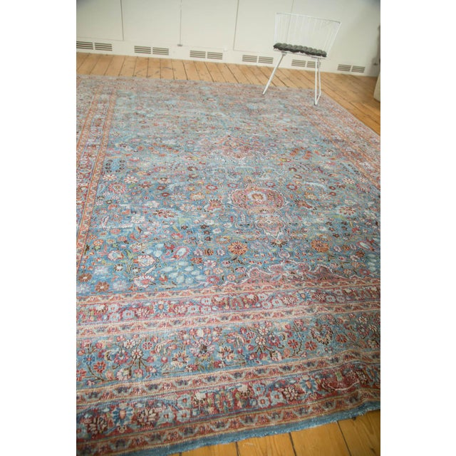 "Vintage Distressed Meshed Carpet - 8'8"" x 11'4"" - Image 10 of 10"