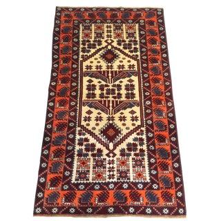1970s Vintage Turkish Rug - 3′7″ × 6′2″ For Sale