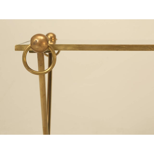 1960s French Mid-Century Modern Coffee Table With Bronze Hoof Feet For Sale - Image 5 of 9