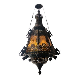 1960s Brass Indian Chandelier For Sale