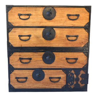 Japanese Meiji Period 19th Century Two-Part Tansu For Sale