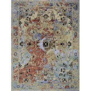 1990s Modern Artisan Style Ikat Area Rug - 9′2″ × 12′2″ For Sale