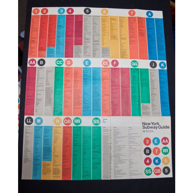 Subway Map Paper Products.1974 Massimo Vignelli Subway Map