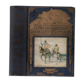 """1956 """"El Ingenioso Hidalgo Don Quijote De La Mancha"""" Collectible Book For Sale"""