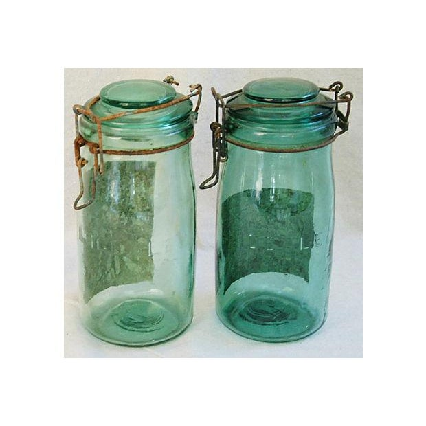 Early 1900s French Preserve Canning Jars - A Pair - Image 4 of 6