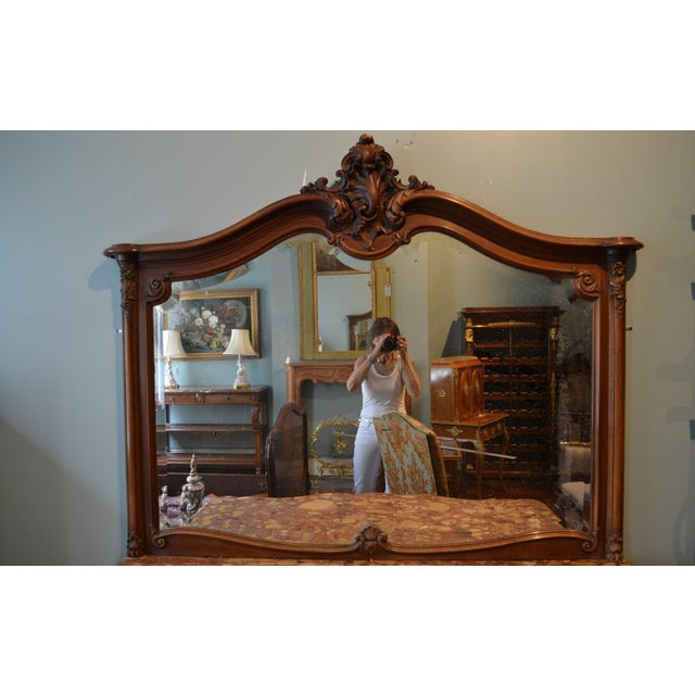 Antique French Walnut Mirror For Sale In New Orleans - Image 6 of 6