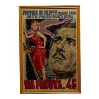 "Circa 1954 ""Via Padova, 46"" First Release Lithograph Poster For Sale"