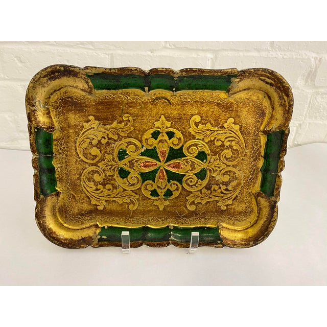 Beautiful vintage Florentine tray made in Italy. Colorful and useful. This tray can be used as display or be put to good...
