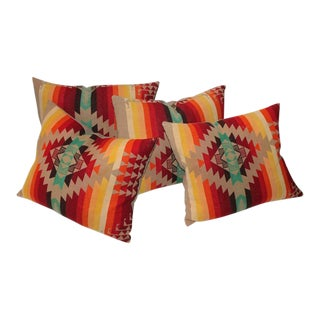 Amazing Flying Geese and Striped Pendleton Pillows For Sale
