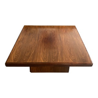 Mid Century Danish Modern Rosewood Coffee Table by Trioh For Sale