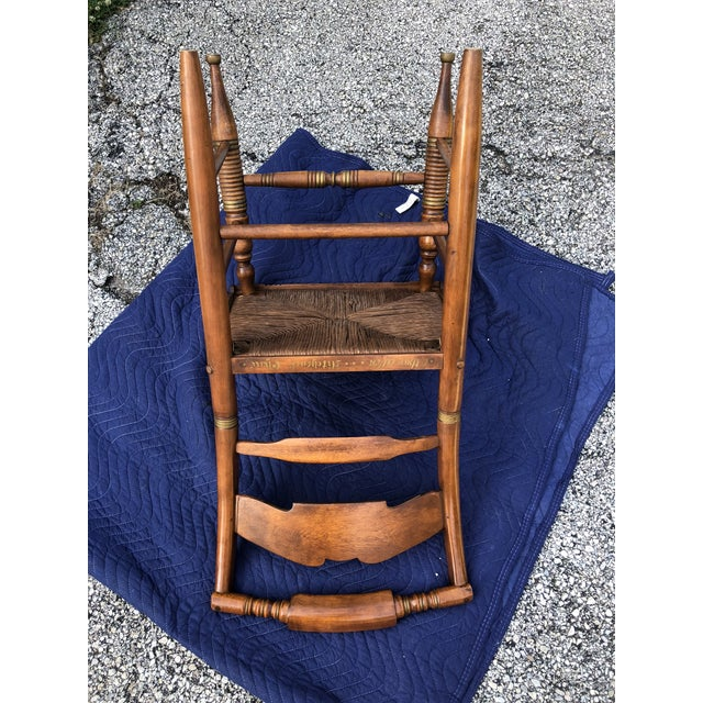 Vintage Mid-Century Ethan Allen L. Hitchcock Eagle Side Chair For Sale - Image 10 of 12