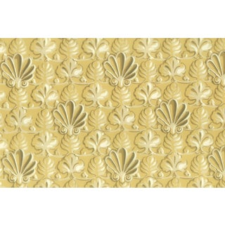 Vintage Bassett McNab Gold Shell Wallpaper - 10 Yard Roll For Sale