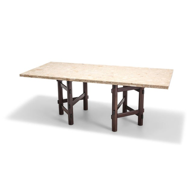 Modern Terazzo Marble Dining Table by Jan Vlug For Sale - Image 9 of 9