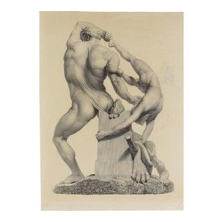 """""""Hercules & Lichas"""" Engraving"""