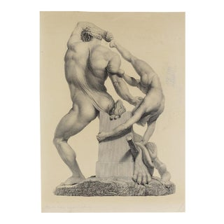 "Last Call ""Hercules & Lichas"" Engraving"