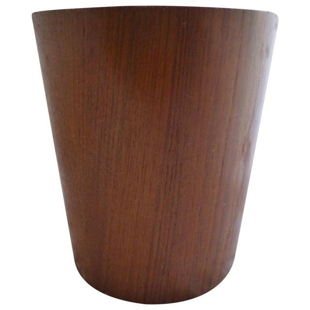 Danish Modern Teak Waste Basket - Image 1 of 10