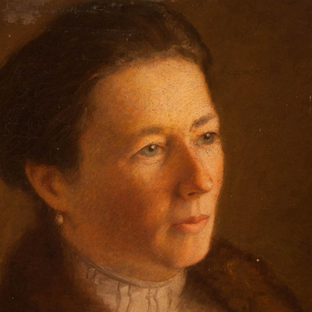 Portraiture 1900 Portrait of a Woman Painting For Sale - Image 3 of 4