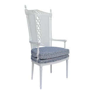 Hollywood Regency Aegean-Style High Back Arm or Desk Chair For Sale