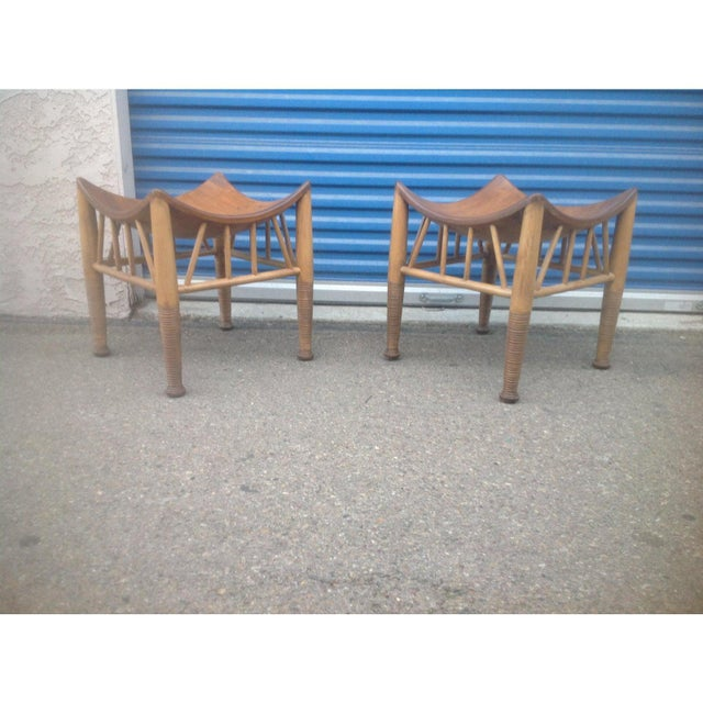 Mid-Century Modern Mid Century Modern Accent Stools- a Pair For Sale - Image 3 of 4