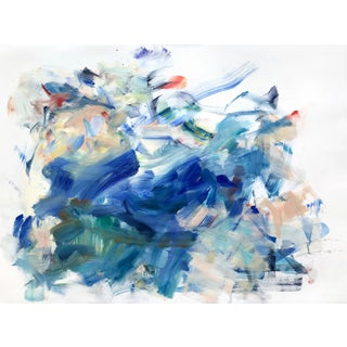 """Yolanda Sanchez """"Sea Changes 4"""" Abstract Oil Painting on Canvas For Sale"""