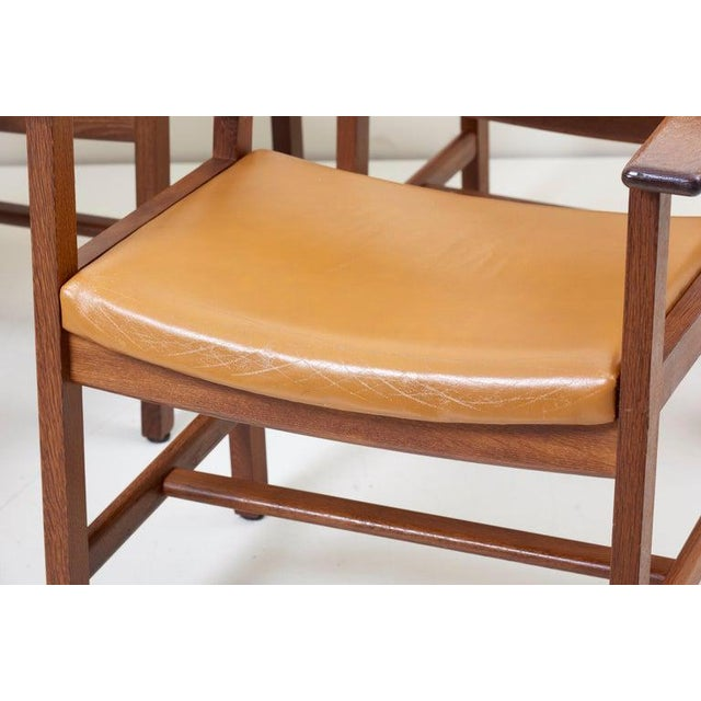 GETAMA Set of Ten Ge 1960s Armchairs in Leather by Hans Wegner for by Getama, Denmark For Sale - Image 4 of 13