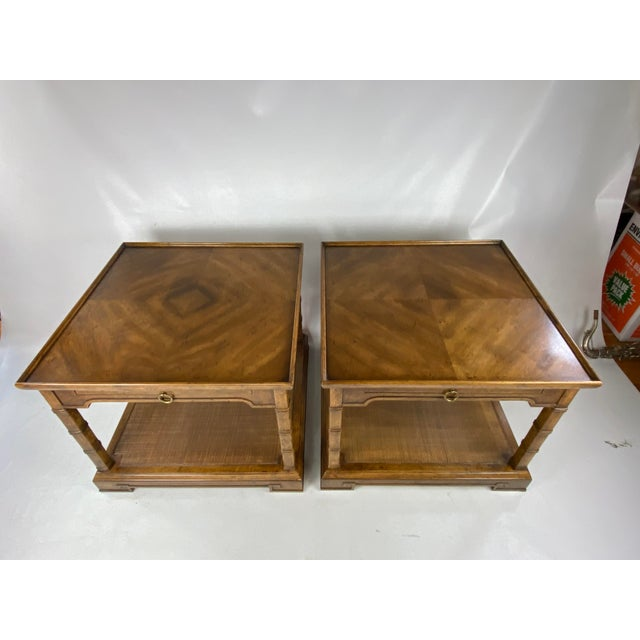 1960s Drexel Heritage Asian Style Side Tables - a Pair For Sale - Image 13 of 13