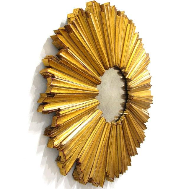 Round Gilded Sunburst Mirror - Image 3 of 7