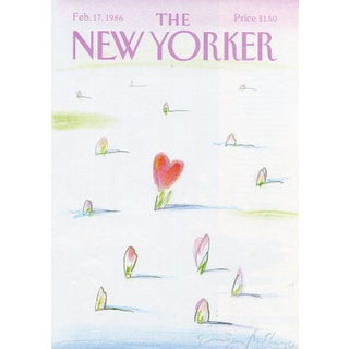 Vintage 1986 New Yorker Cover, February 17 (Eugene Mihaesco), Valentine's Day For Sale