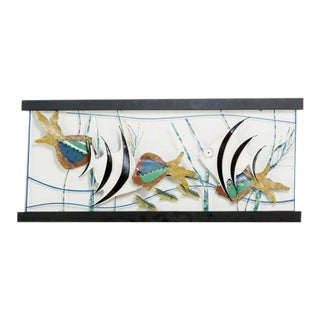 Large Aquarium Wall Sculpture by Curtis Jere, 1987 For Sale