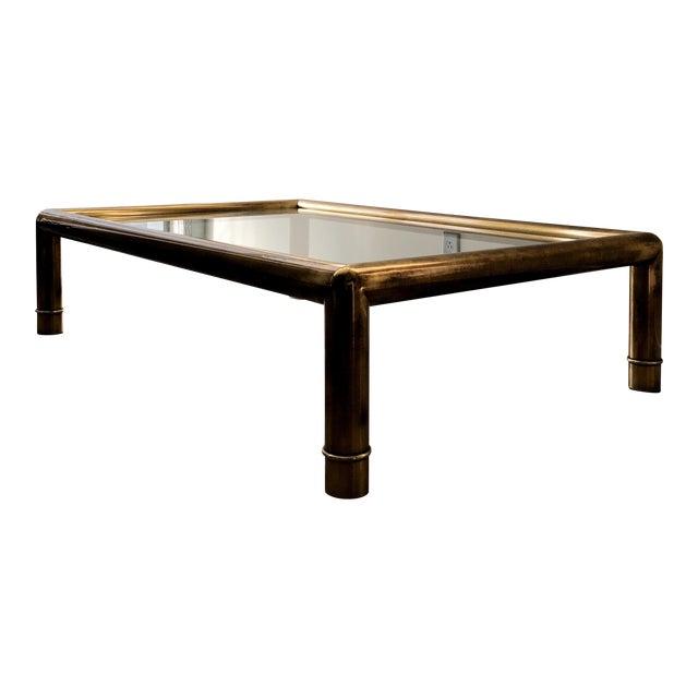 Mastercraft Tubular Brass Coffee Table For Sale