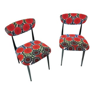 """Mid Century Two-Tone """"Gazelle"""" Style Chairs- a Pair For Sale"""