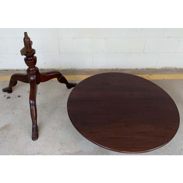 19th Century English Lady Leg Birdcage Tilt Top Table For Sale - Image 4 of 12