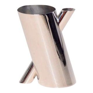 Mario Botta Chrome-Plated Vase For Sale