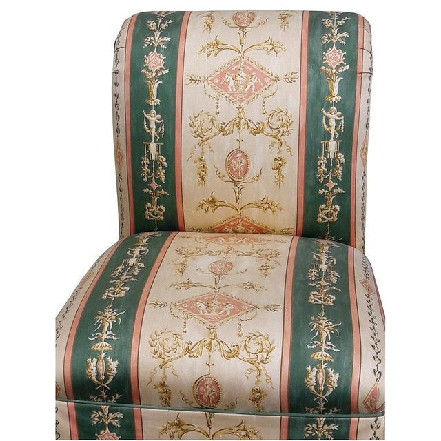 French French Upholstered Cherub Neoclassical Napoleon III Slipper Chair For Sale - Image 3 of 8