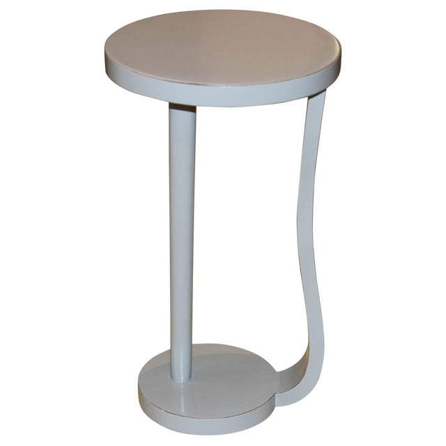 Contemporary Round Gray Cocktail Table For Sale