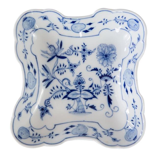 Blue Onion Square Porcelain Dish For Sale