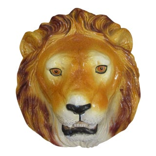 Italian Terra Cotta Lion Head For Sale
