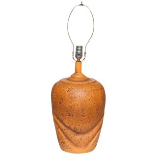 Ceramic Tangerine Lamp, 1960s