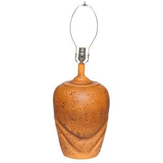 Large Ceramic Tangerine Lamp, 1960s
