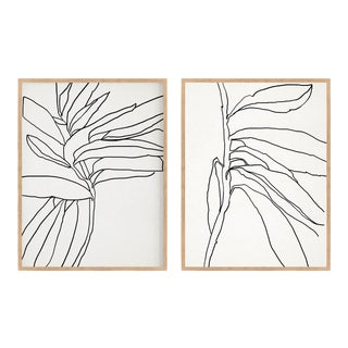 Contemporary Minimalist Abstract Giclee Prints, Framed - a Pair For Sale