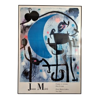 "Joan Miro ""Femme Et Oiseaux Dans La Nuit"" Print For Sale"