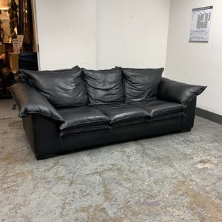 Vintage Leather Factory Black Sofa Preview