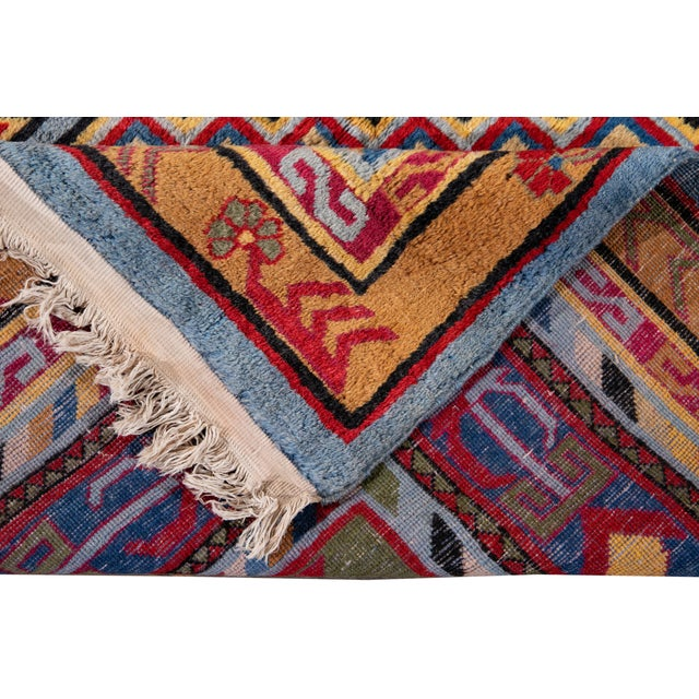 Traditional Mid-20th Century Vintage Khotan Rug 6' 10'' X 9' 7''. For Sale - Image 3 of 13