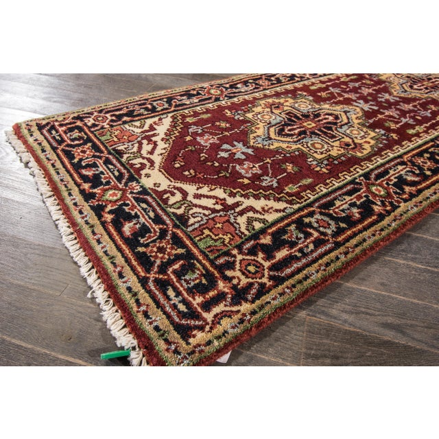 "Modern Indo Serapi Rug, 2'7"" X 8'4"" For Sale In New York - Image 6 of 8"