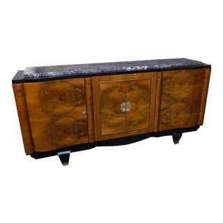 Stunning Walnut Veneered Sideboard For Sale