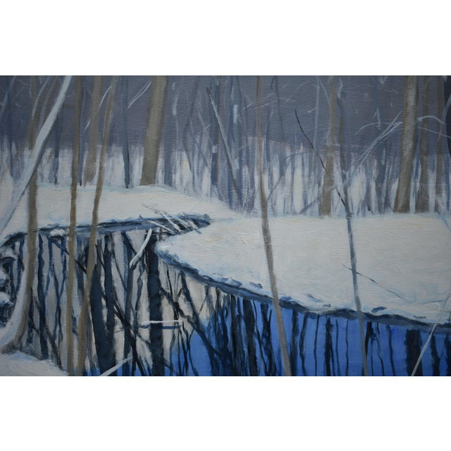 """""""The Pond and the Mountain"""" Painting by Stephen Remick For Sale - Image 9 of 13"""