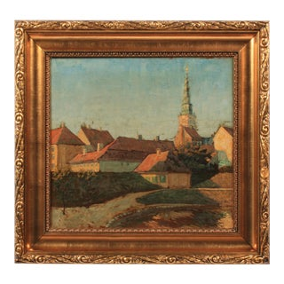 Early 20th c. View of Copenhagen For Sale