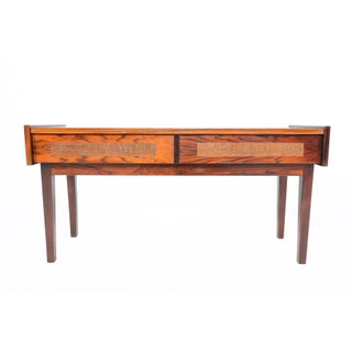 Danish Modern Rosewood & Copper Entry Chest For Sale